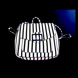 A New Day Navy & White Stripe Backpack